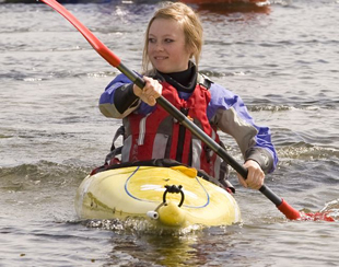 Girl in Kayak