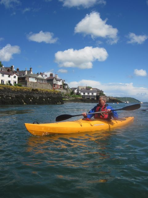 kayaker at menai bridge