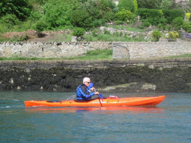 kayaker at menai bridge, anglesey