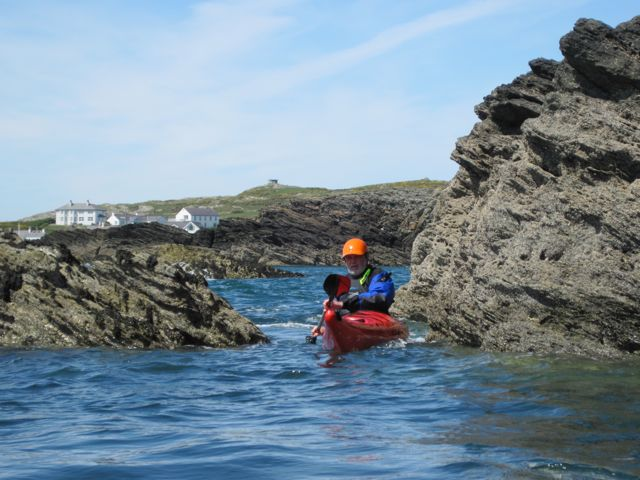 sea kayaking off Rhoscolyn